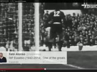 Benfica faz vídeo de homenagem a Eusébio