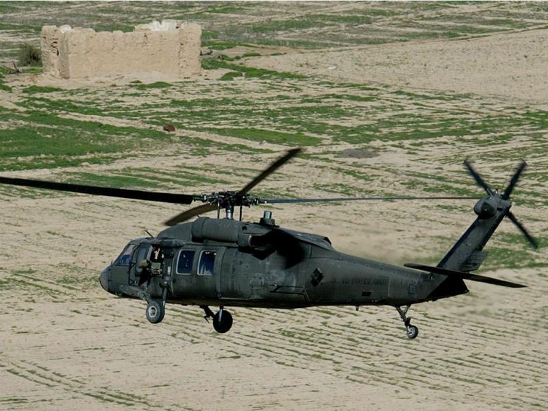Helicóptero «Black Hawk» da Força Aérea norte-americana (EPA/Lusa)