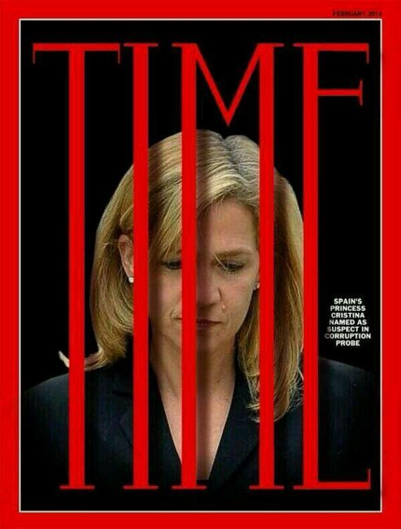 Capa falsa da Time com a Infanta Cristina (Twitter)