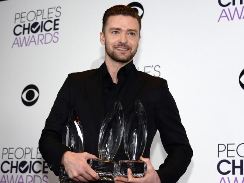 Justin Timberlake venceu três prémios na gala dos People`s Choice Awards 2014 (Reuters)