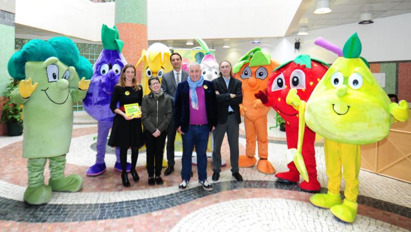 Gang dos Frescos do Lidl sensibiliza crianças para o consumo de frutas e legumes Foto: DR