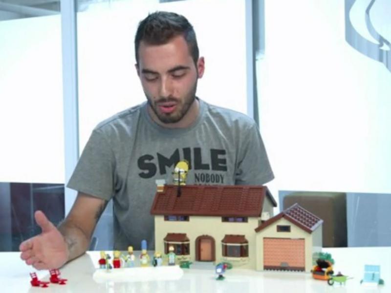 A casa dos Simpsons feita de Lego (Lego)