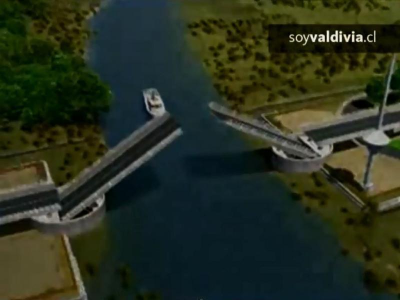 Chile: projeto da ponte Cau Cau (Reprodução Youtube)