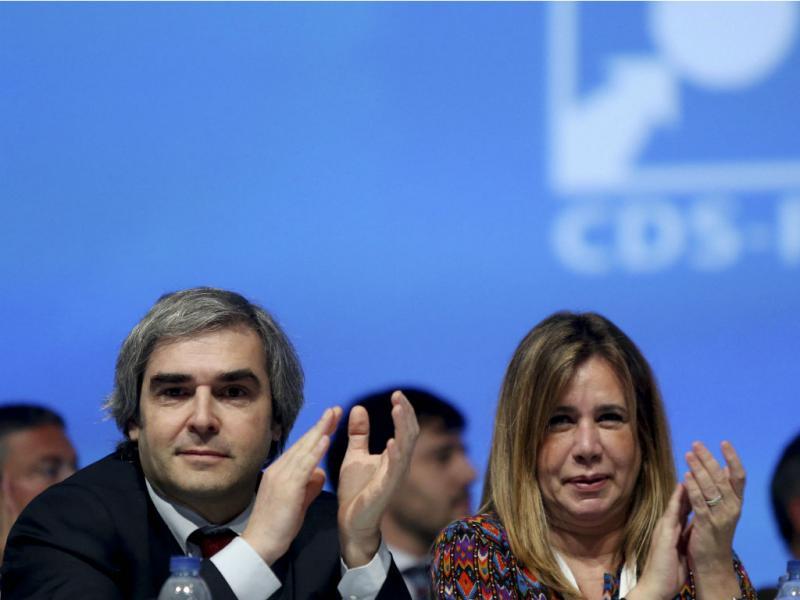 Congresso do CDS-PP - Nuno Melo e Teresa Caeiro (ESTELA SILVA/LUSA)