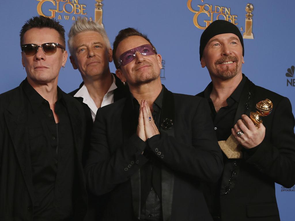 U2 nos Globos de Ouro 2014 (REUTERS)