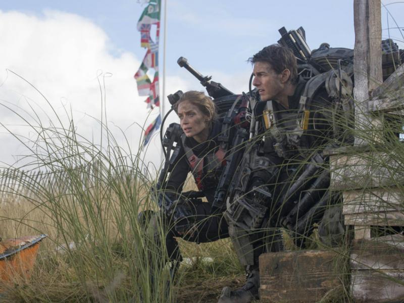 Tom Cruise e Emily Blunt em «O Limite do Amanhã»