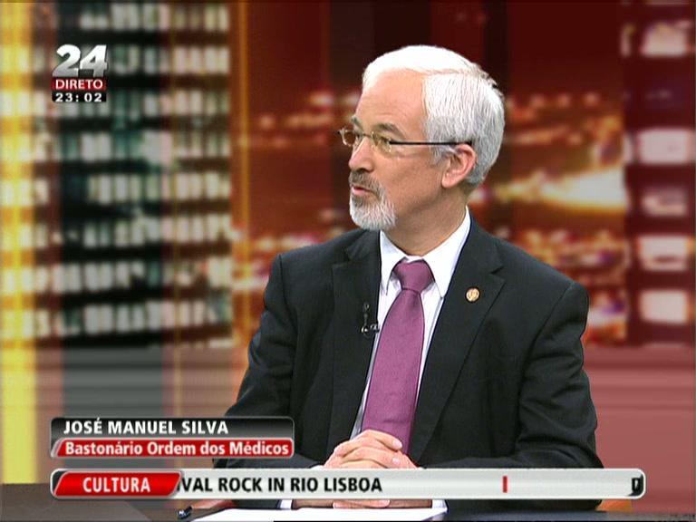 O bastonário da Ordem dos Médicos na TVI24