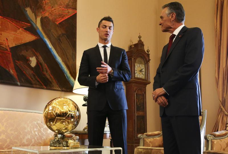 Cristiano Ronaldo e Cavaco Silva Foto: Lusa
