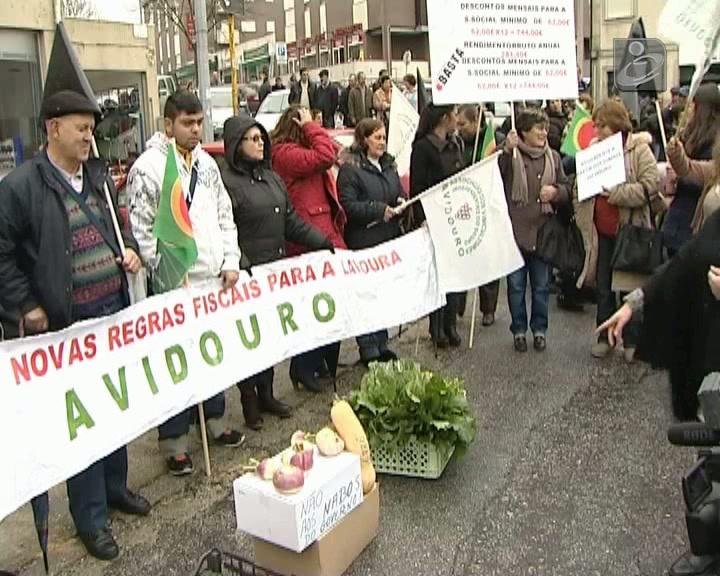 Agricultores em protesto