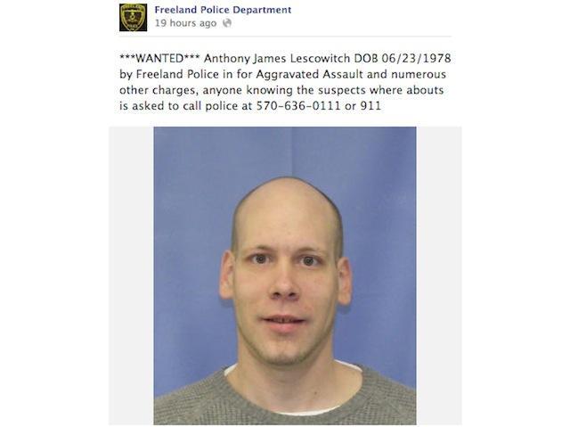 Suspeito encontrado após partilhar estado do facebook da Polícia