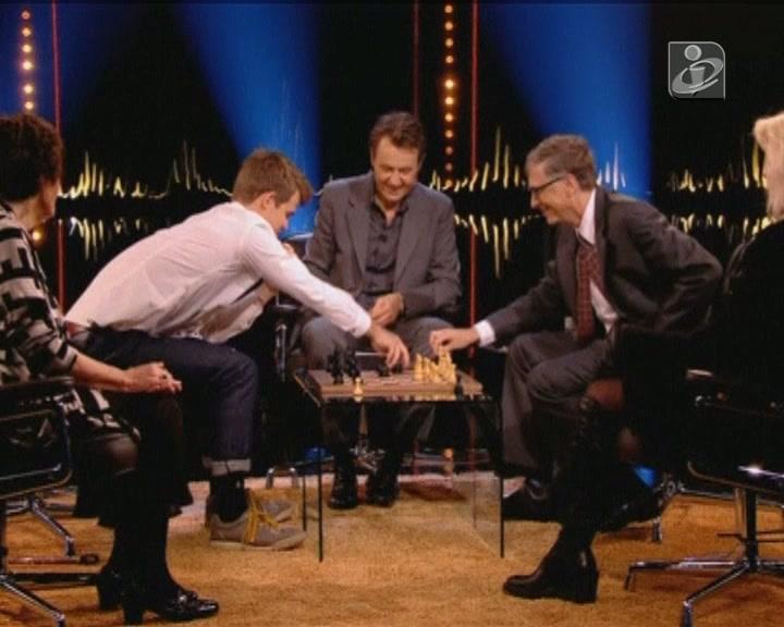 Magnuz Carlsen e Bill Gates