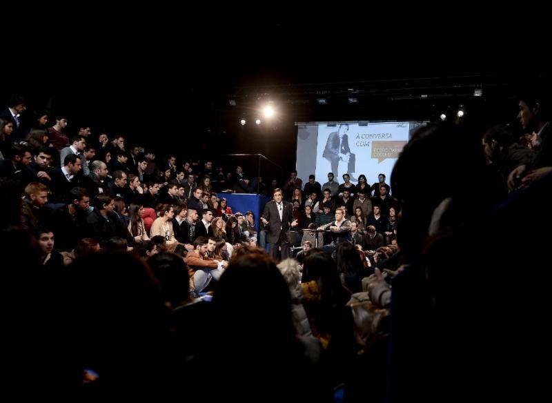 Passos Coelho em Braga na iniciativa promovida pela JSD (LUSA/ Hugo Delgado