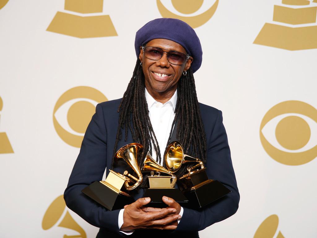 Nile Rodgers na 56ª gala dos Grammy Awards (Reuters)