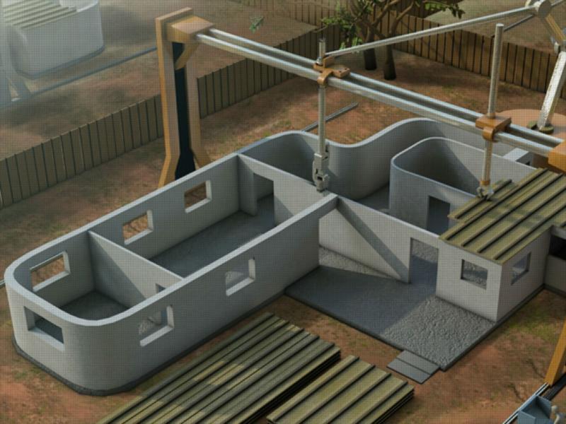 Casa feita com impressora 3D
