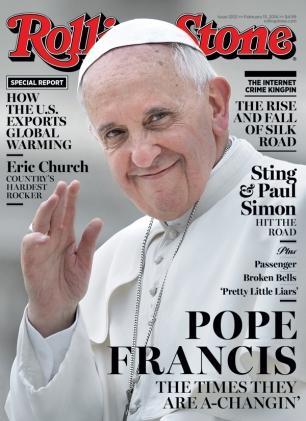 Papa na capa da Rolling Stone