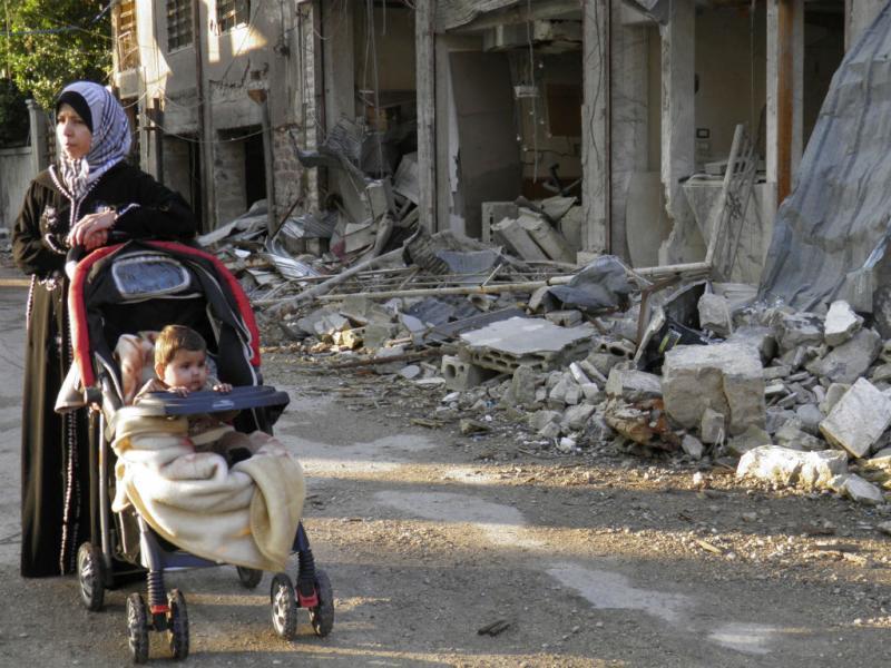 Casas destruídas na Síria (REUTERS)