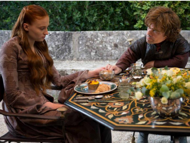 Sansa Stark e Tyrion Lannister - «Guerra dos Tronos» [Facebook]