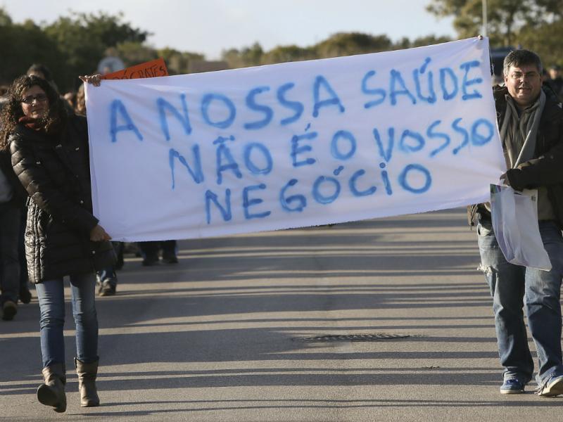 Protesto em defesa do SNS no Algarve