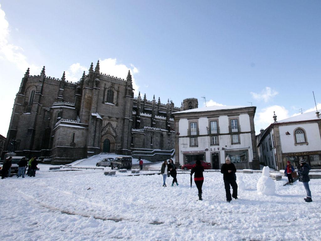 Queda de neve na Guarda (MIGUEL PEREIRA DA SILVA/LUSA)