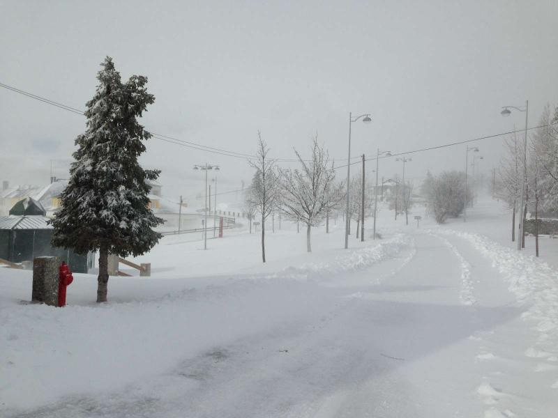 Neve na Serra da Estrela (foto enviada por Patrícia Lindeza)