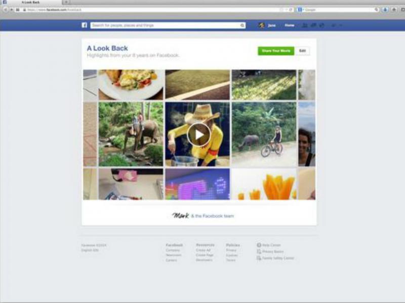 Facebook celebra 10 anos com «A look back» (Reprodução)