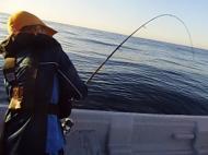 Jovens do Cavaquense praticam pesca de alto mar