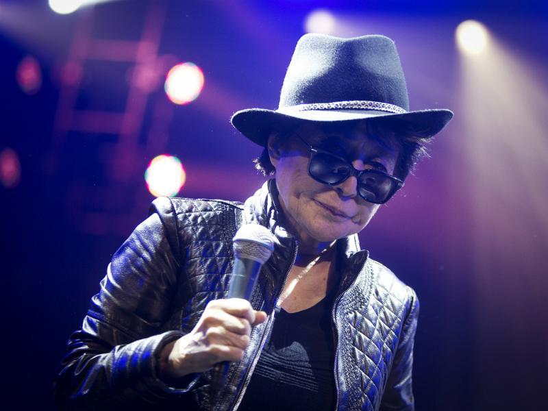 Yoko Ono - Concerto da Amnistia Internacional [Reuters]
