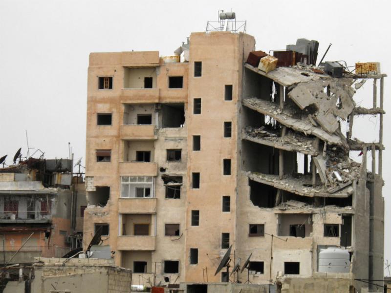 A destruição da cidade de Homs, na Síria (REUTERS)