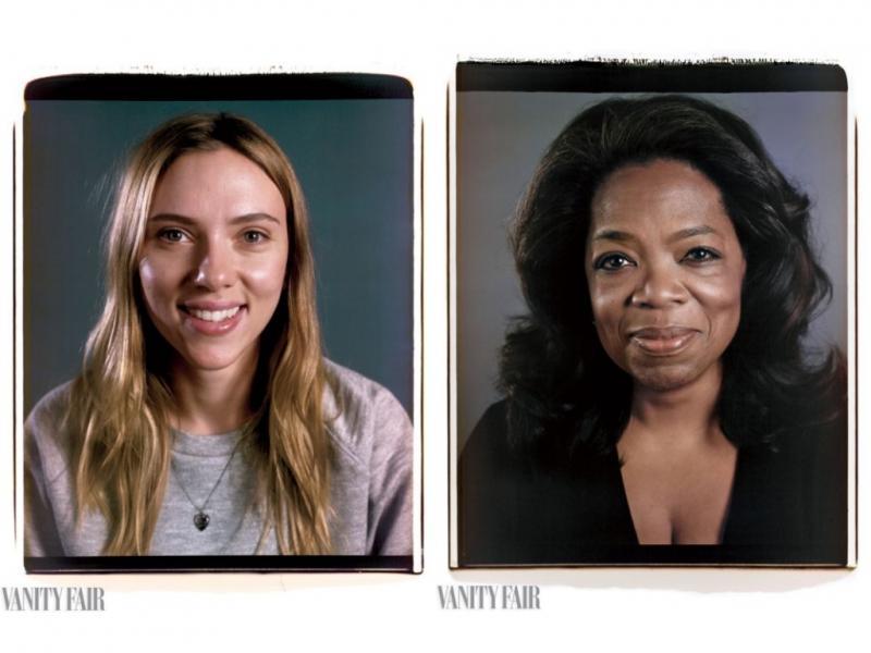 Scarlett Johansson e Oprah Winfrey fotografadas por Chuck Close para a «Vanity Fair»