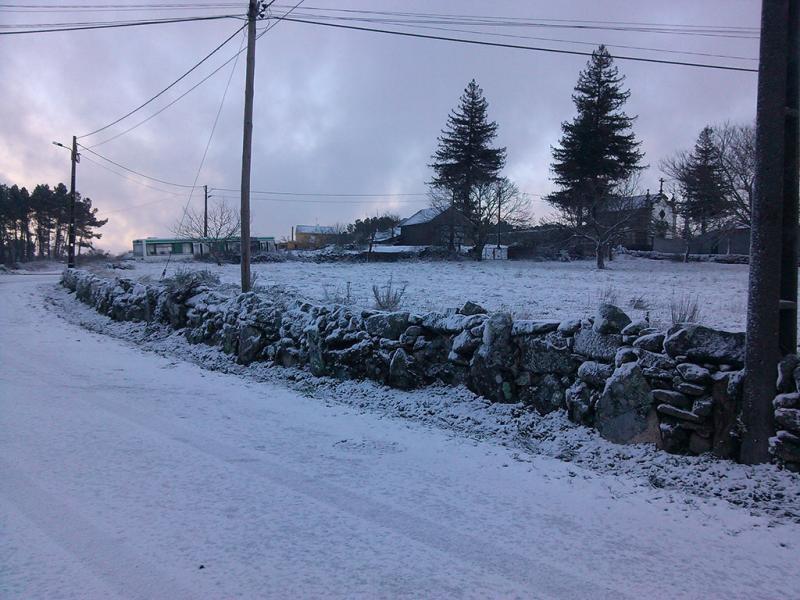 Neve na Serra da Lapa (foto enviada por Inês Ferreira & Alexandra Cardoso)