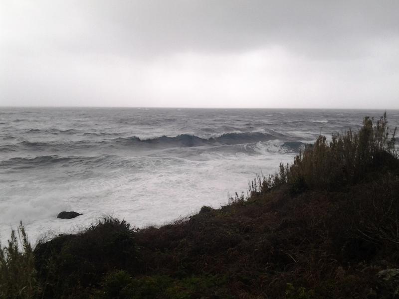 Mau tempo São Jorge Açores (foto enviada por Debora M. Pereira)