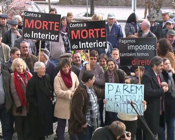 Protesto em Mêda