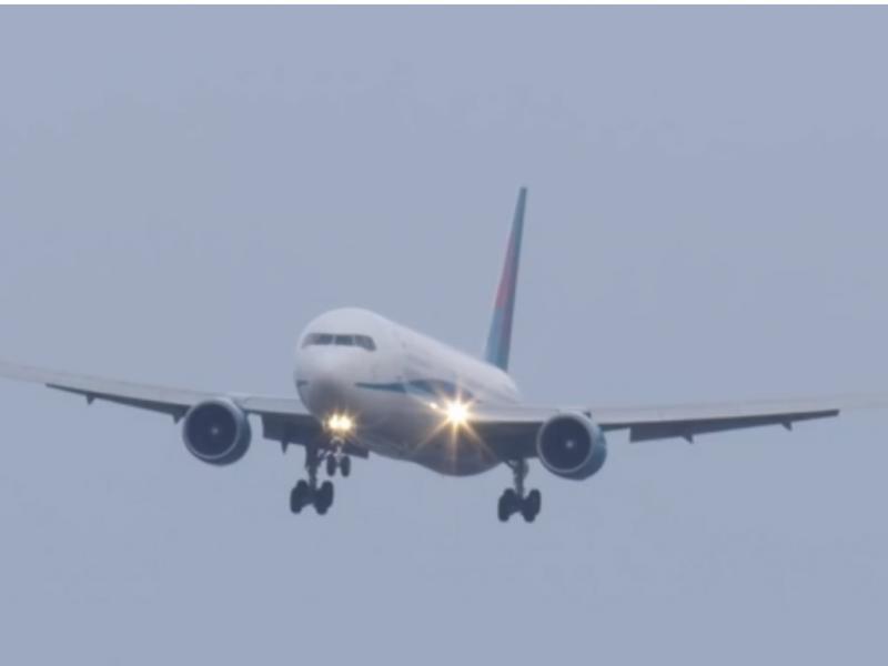 Avião com dificuldades para aterrar