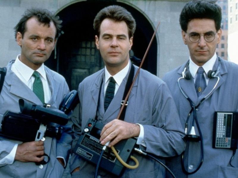Bill Murray, Dan Aykroyd e Harold Ramis em «Os Caça-Fantasmas» (1984)