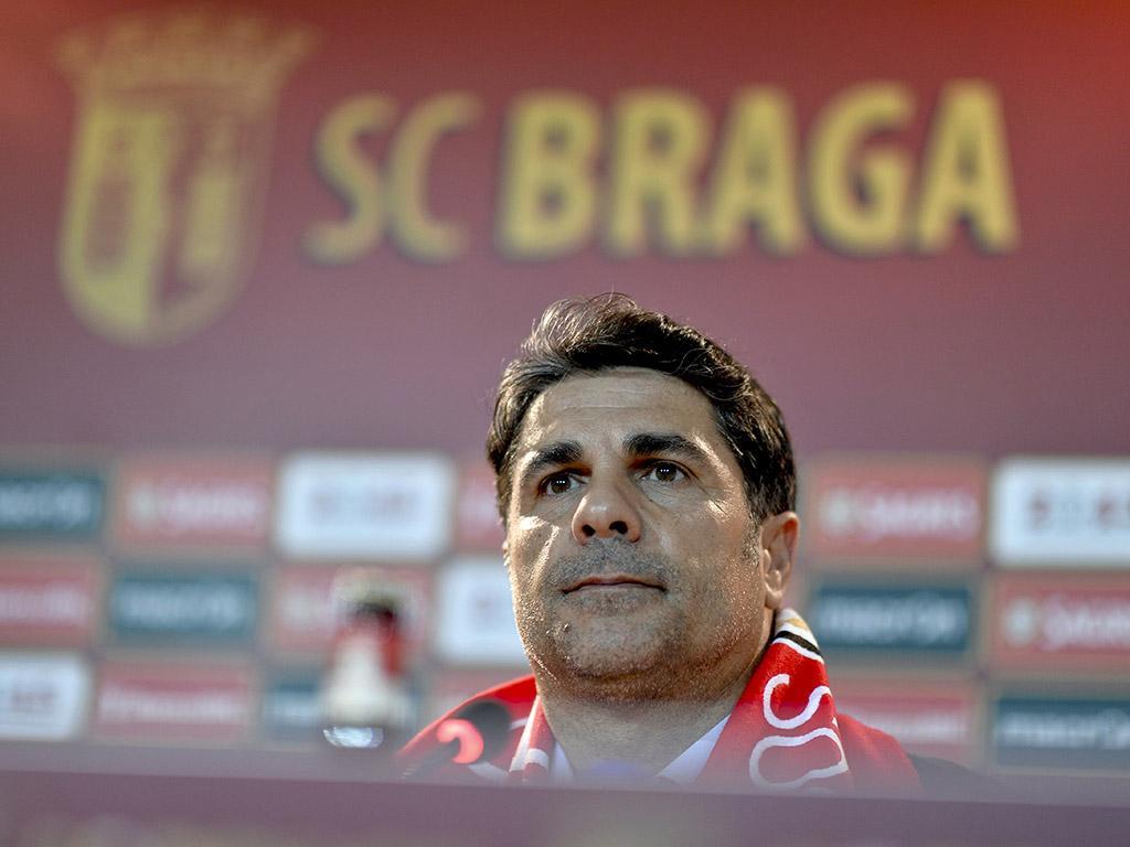 Apresentação de Jorge Paixão como novo treinador do Sporting de Braga (LUSA)