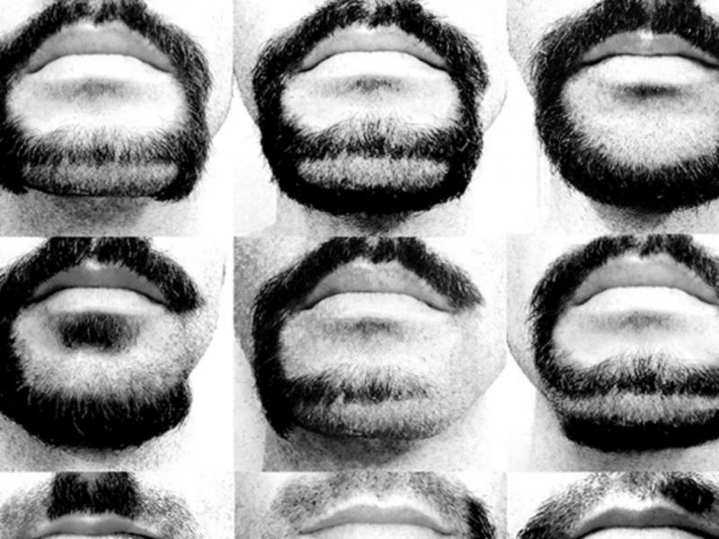 Utilizou a barba como tela (reprodução de designboom)