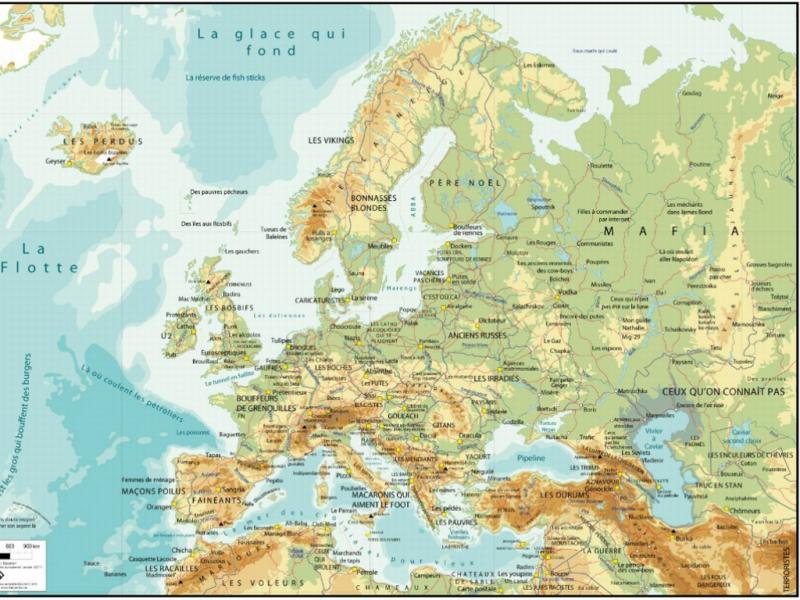 Mapa da Europa da autoria de Sébastien Laurent