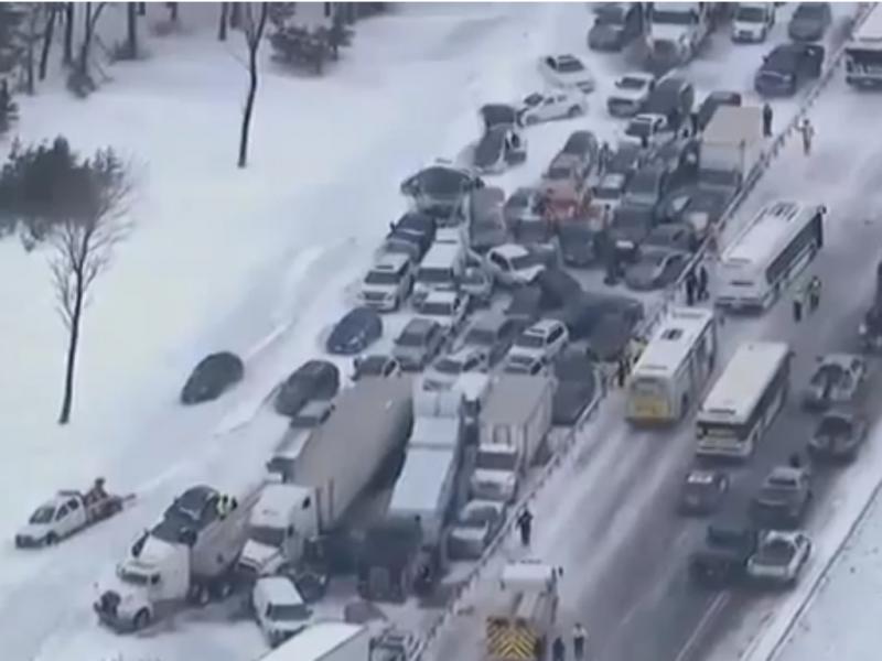 Acidente no Canadá envolveu mais de 100 pessoas