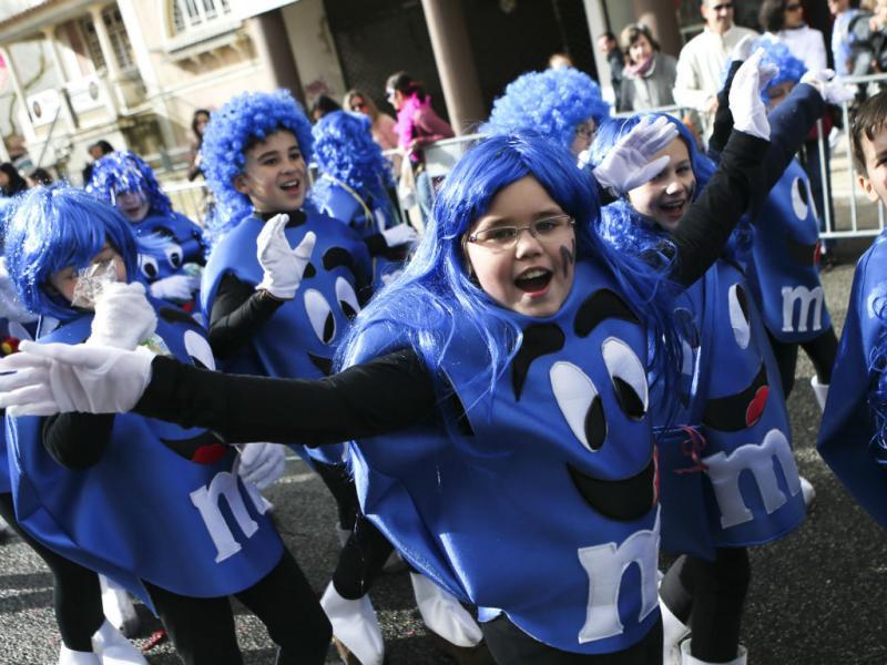 Torres Vedras: crianças já brincam ao Carnaval (Lusa)