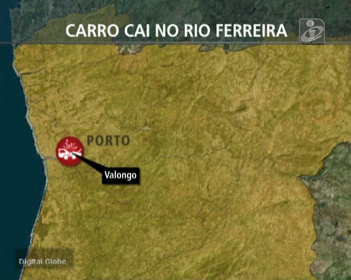 Carro cai no Rio Ferreira