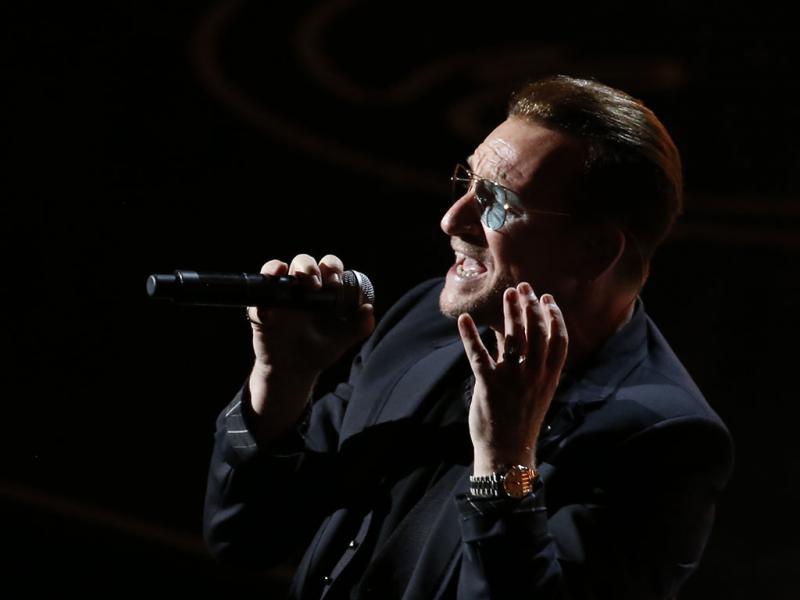 Bono na Cerimónia dos Óscares 2014 (REUTERS)