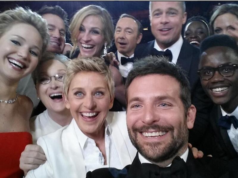 Selfie de Ellen DeGeneres é a imagem dos Óscares 2014