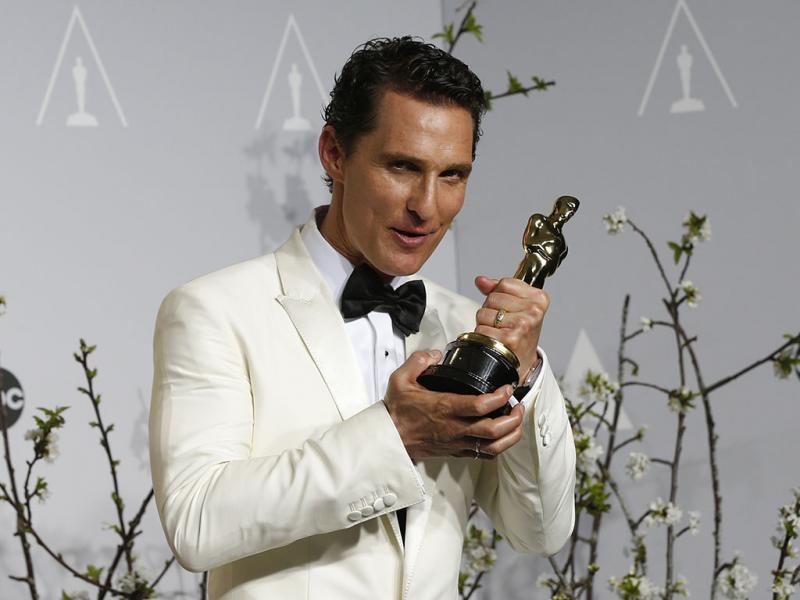 Matthew McConaughey vencedor do óscar de melhor ator com o filme «O Clube de Dallas» (REUTERS)