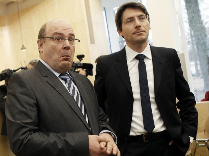 Steffen Kampeter (à esquerda) [Reuters]