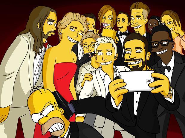 Selfie dos Simpsons Foto: DR