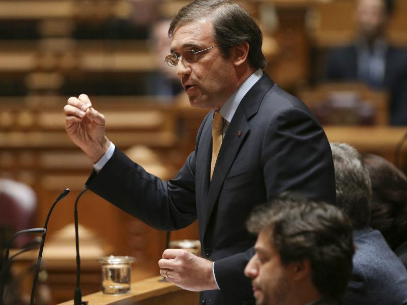 Passos Coelho no debate quinzenal (Lusa)