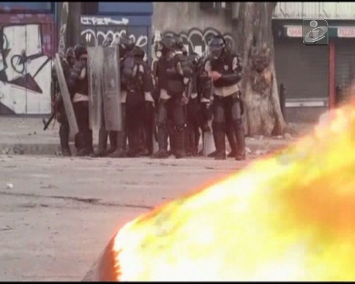 Guerra urbana nos arredores de Caracas