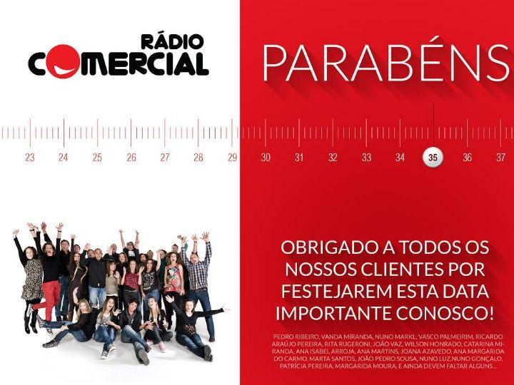 Rádio Comercial faz 35 anos