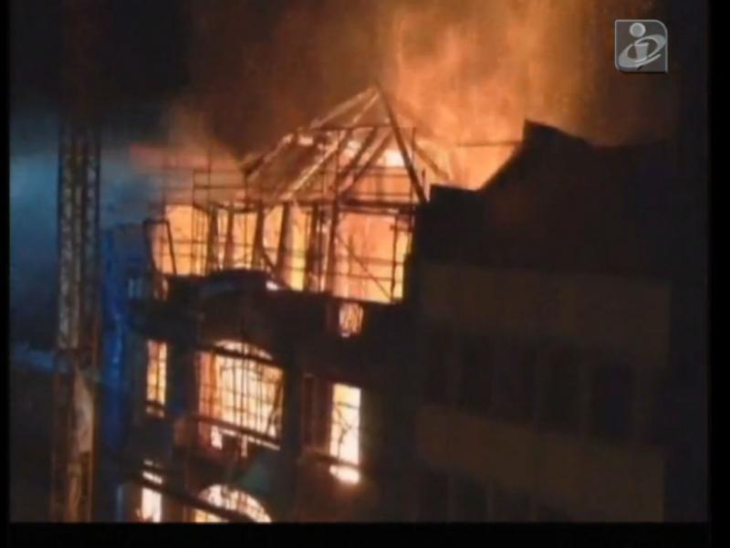 Incêndio em Lisboa (Imagens euvi@tvi.pt)