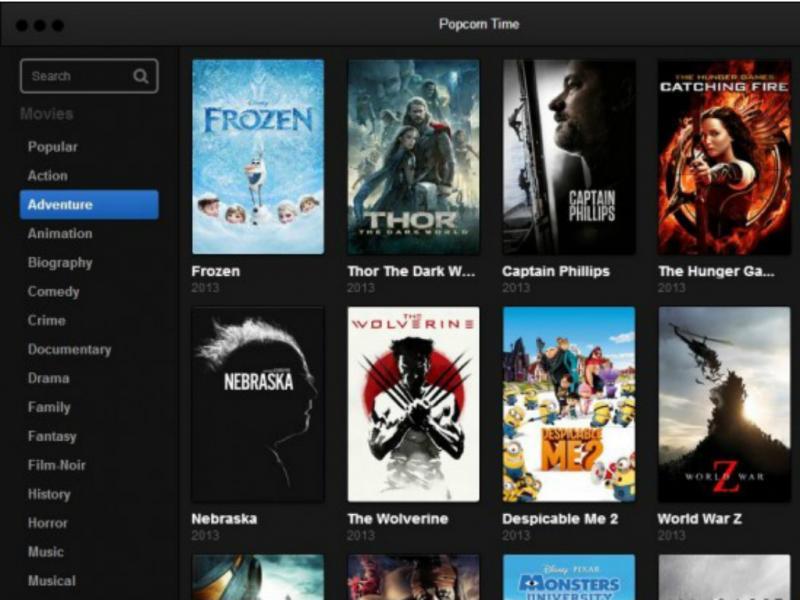Site «Popcorn Time» disponibiliza filmes de forma gratuita
